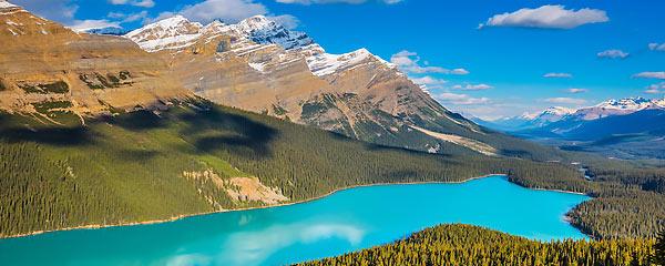 Peyto Lake, Rocky Mountains, Kanada