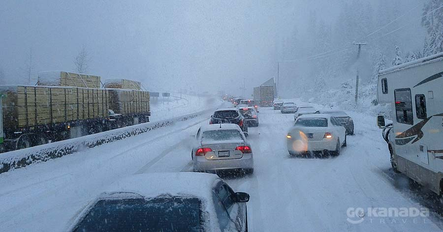 Coquihalla Highway Winter Accident Great Bear Shed Closure BC Canada