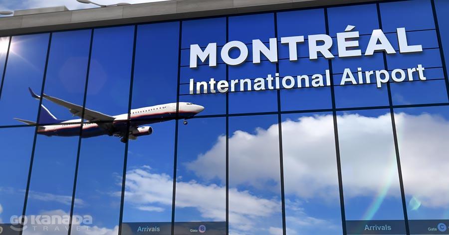 Plane landing in Montreal