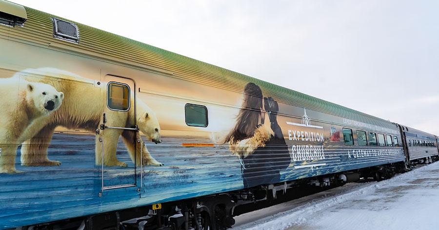 Churchill VIA Rail Polar Bears