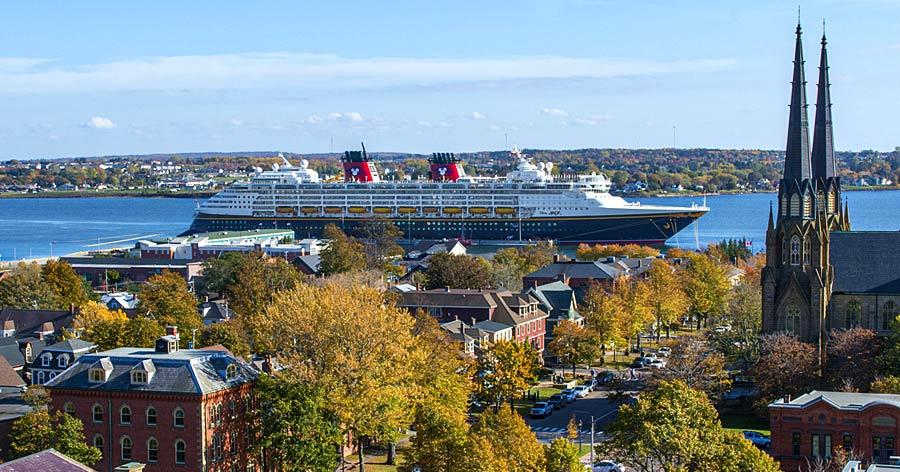 Disney Cruise ship Charlottetown, Prince Edward Island Canada