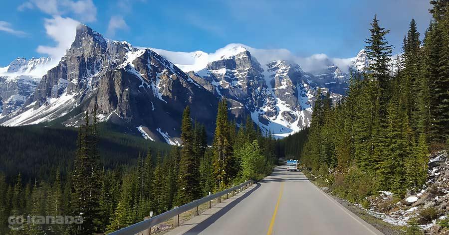 Moraine Lake Road Early Spring Alberta Canada