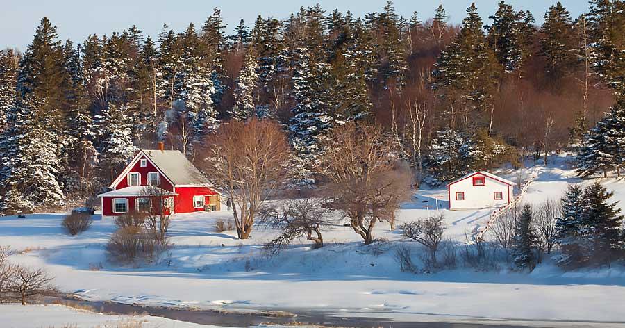 Prince Edward Island winter